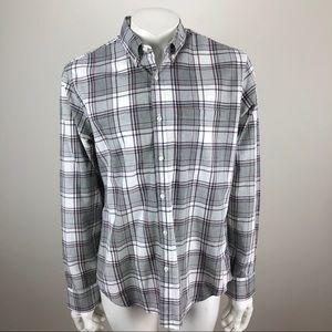 J Crew Slim Fit Check Plaid Shirt Gray - Medium